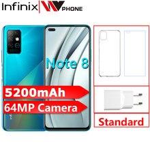 Infinix nota 8 smartphones 6gb 128gb 6.95 Polegada hd + helio g80 octa-núcleo 64mp quad câmera traseira 5200mah alto-falantes duplos celulares
