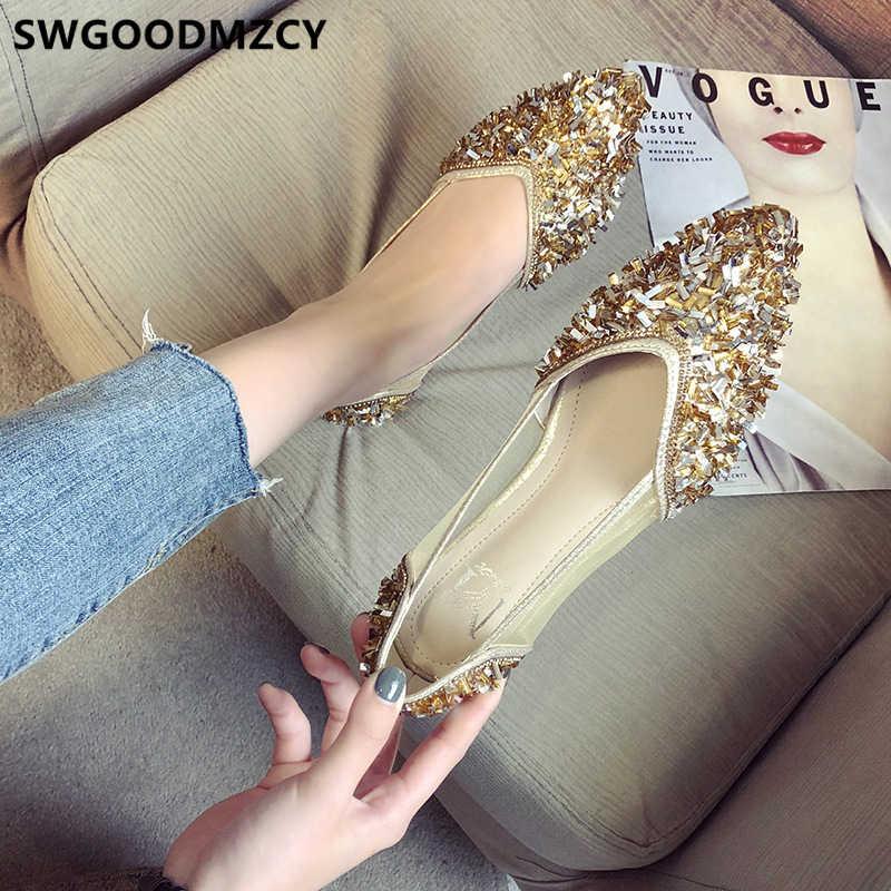 Glitter scarpe mocassini femminili donne scarpe di lusso delle donne designer piatto womans scarpe fashions 2019 slip on zapato mujer casuale