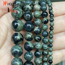 Natural Rhyolite Jaspers Mineral Stone Round Beads For Needlework Jewelry Making 4/6/8/10/12mm Gemstones Beads DIY Bracelet