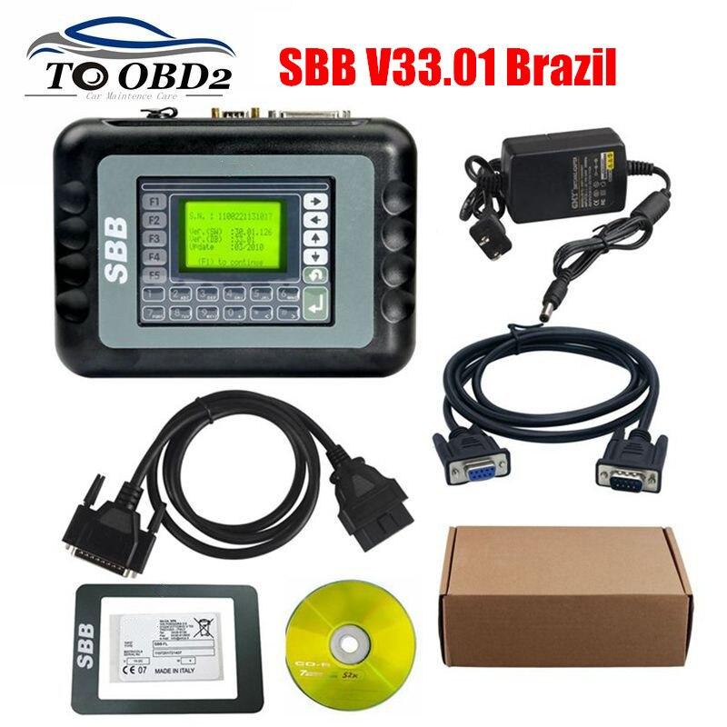 Real version Sbb V33.01 33.01 Multi-brands Auto Key Programmer Maker add brazil cars For GM Pin Code Immobilizer OBDII KEY Maker