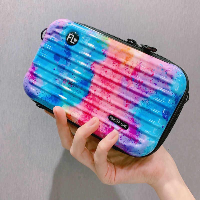 Luxe Schoudertassen Voor Vrouwen Fashion Kleine Bagage Tas 2020 Nieuwe Koffer Vorm Mini Tas Vrouwen Beroemde Merk Clutch Bag