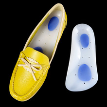 Silicone Orthopedic Insoles For Shoes Sole Flat Foot Arch Support Corrector Palmilha Gel Men Women Shoe Pad Insole Gel Cuhsion
