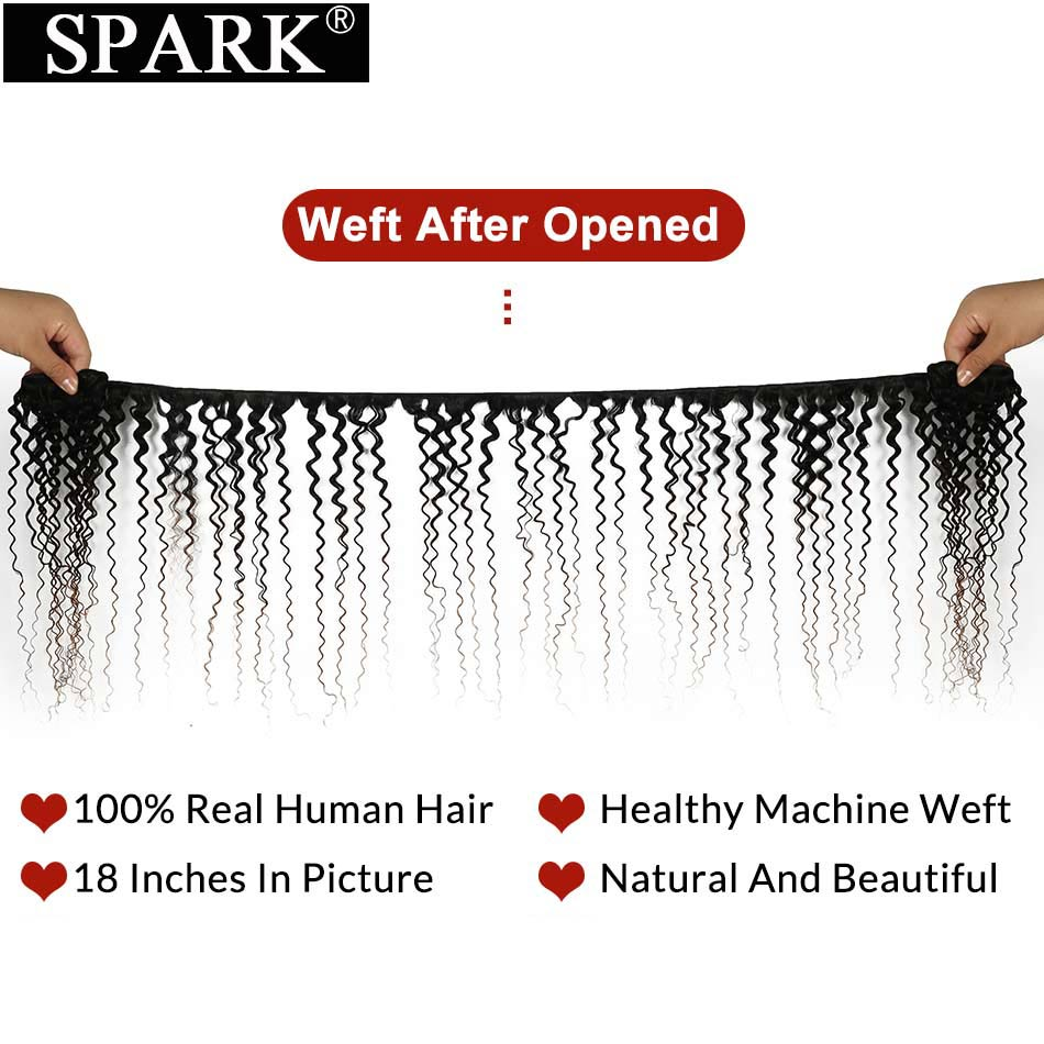 Spark Ombre Human Hair Extension Malaysian Afro Kinky Curly Hair Bundles Three Tone Color Medium Ratio Remy Human Hair For Black