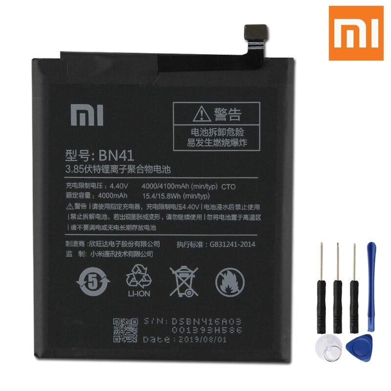 Xiao Mi Original Replacement Phone Battery BN41 For Xiaomi Redmi Note 4 Note4 4X Rechargeable 4100mAh