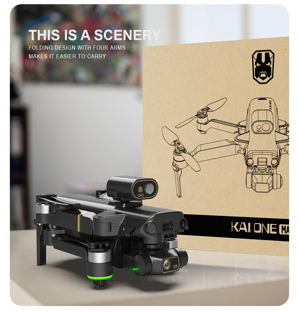 Hacaca617c3054550a4425e56674572f1C - KAI ONE MAX GPS Drone 4K Camera 5G FPV WiFi Laser Obstacle Avoidance Altitude Hold Brushless RC Quadcopter Profesional Dron