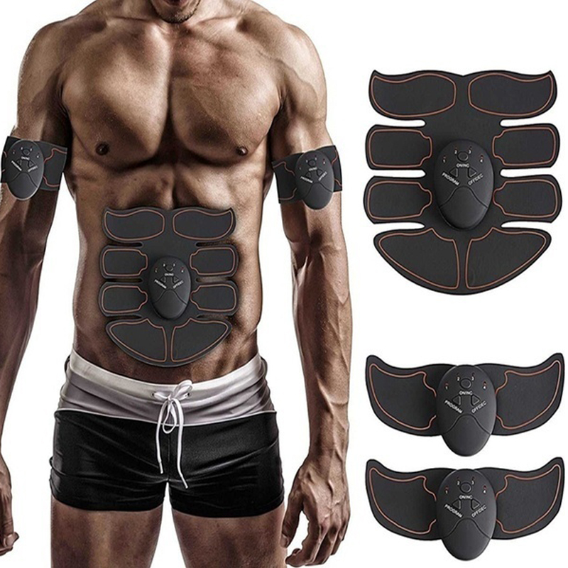 Electric Muscle Training Machine Fitness Gym Equipment Abdominal Muscle Trainer Arm Body Slimming Fat Burning Muscle Stimulator