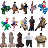 Fantasy Men Adult Unicorn Inflatable Dinosaur Costume Willy Ghost Sumo Anime Cosplay Halloween Dinosaur Costume For Kid Women