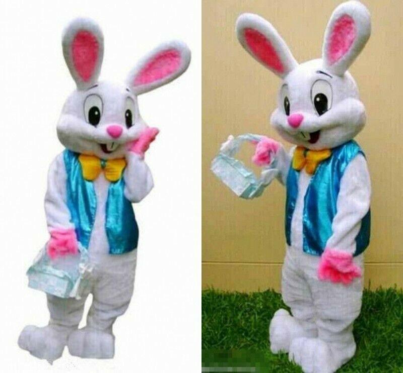Пасхальный Хэллоуин Рождественский Кролик талисман животное косплей костюм костюмы нарядное платье наряд взрослые размер S4