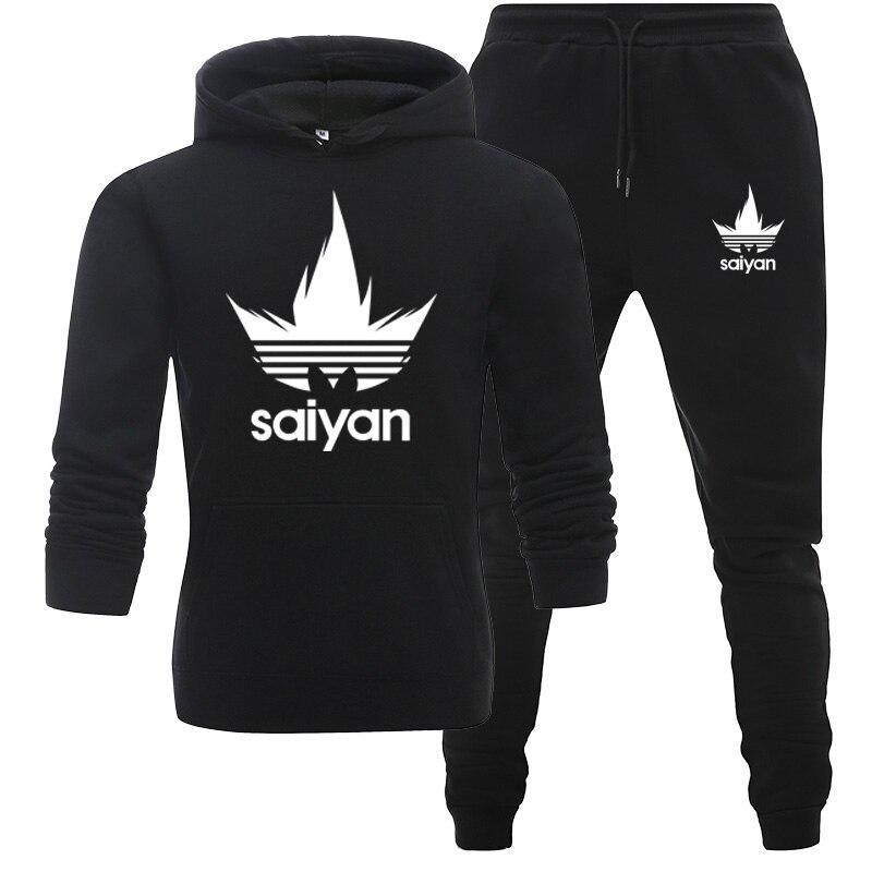 New Men Sportswear Hoodies Pants Set Spring Track Suit Clothes Casual Tracksuit Men Sweatshirts Coats Male Joggers Streetwear
