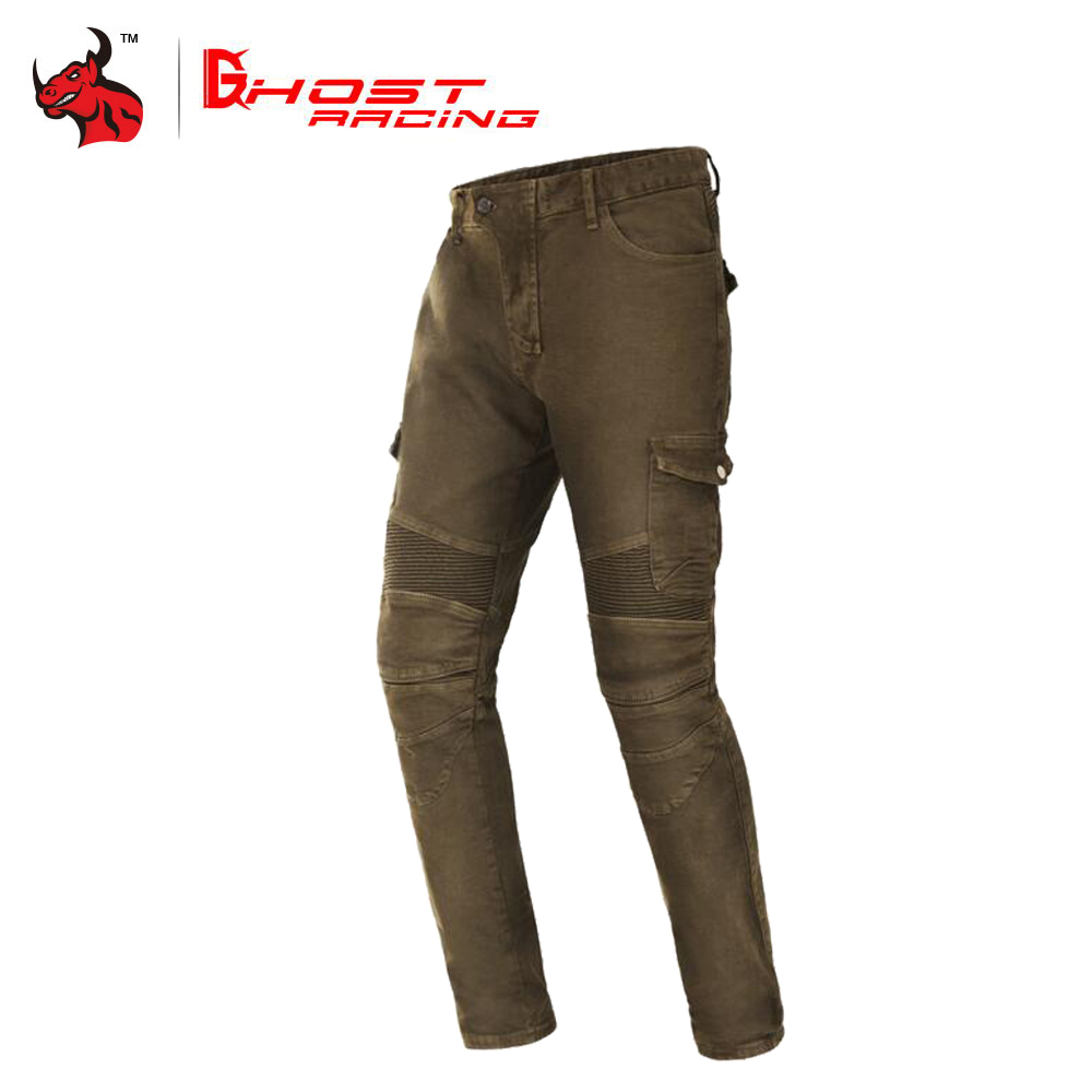 GHOST RACING Motorcycle Pants Men Moto Jeans Protective Gear Riding Touring Motorbike Trousers Motocross Pants Moto Pants