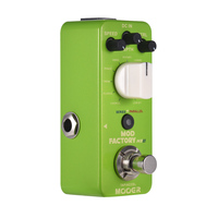 New MOOER MME2 Mod Factory MKII Multi Modulation Effect Pedal 11 Modulation Effects Tap Accel Tempo True Bypass Full Metal Shell