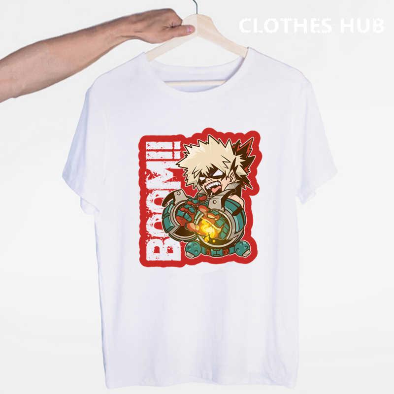 Camisetas de mi héroe de la escuela Boku de Anime japonés No Héroe de la escuela para hombre/mujer camiseta impresa Casual camisetas