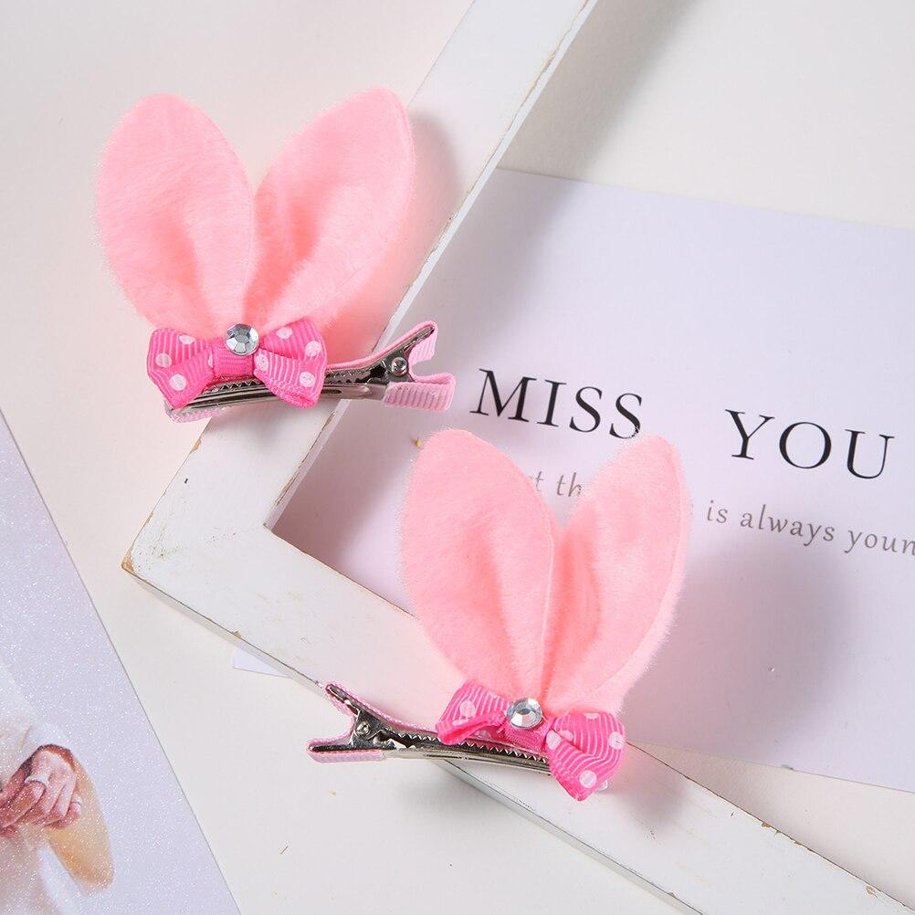M MISM, новые аксессуары для волос для девочек, Разноцветные Милые заячьи ушки, шпильки для волос в горошек, Детская Милая заколка для волос - Цвет: Barrettes Set 1