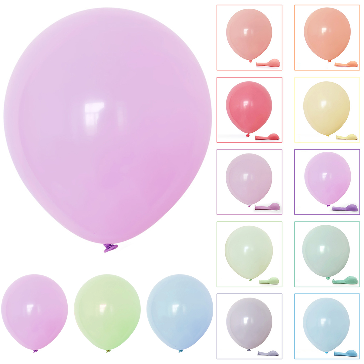 100pcs Mixed Color Round Balloons Macaron Candy Colored Latex Balloon Birthday Wedding Engagement Festival Family Party Decor