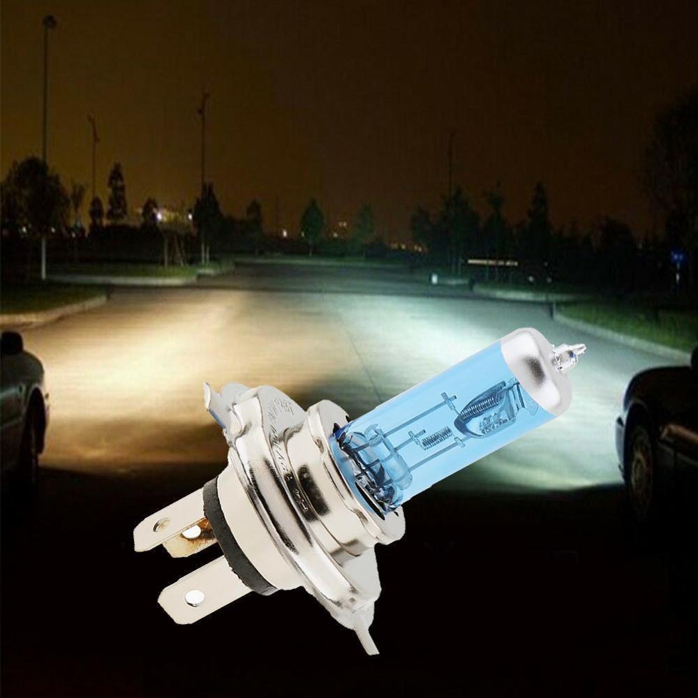 Car Light H4 Halogen Bulb 12V 100/90W Halogen Lamp Super White Dark Blue Xenon Bright Glass Stainless Steel Base Car Bulb