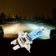 Car Light H4 Halogen Bulb 12V 100/90W Halogen Lamp Super White Dark Blue Xenon Bright Glass Stainless Steel Base Car Bulb стоимость