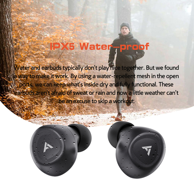 Anomoibuds QCC010 Max Aptx Touch Key Wirless Earphone Bluetooth Headphones Wired Earphones Noise Cancellation with Microphones 4