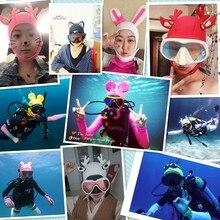Aturdive sunscreen anti-uv 4mm submersible cap cartoon personality snorkeling wigs