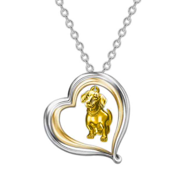 Dog Heart Necklace  2