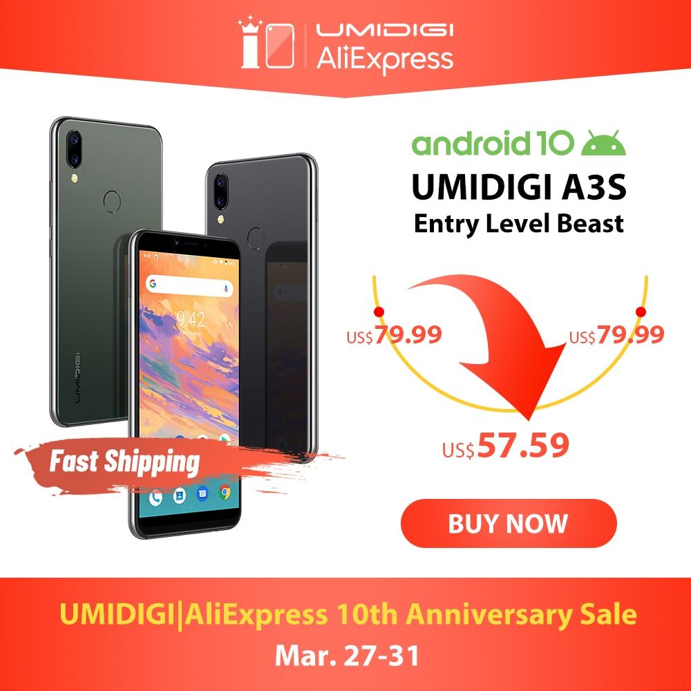 UMIDIGI A3S Android 10 แถบทั่วโลก 3950mAh Dual กล้องด้านหลัง 5.7
