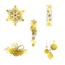 Hot sale Christmas Set snowflake Bell Pendant Star Decorations Foil Plates for Scrapbooking DIY Paper Cards Craft New 2019