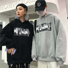 Herfst Winter 2019 naruto print mens hoodies oversized Japanse Anime sweatshirt Casual harajuku hip hop Paar Zwart streetwear(China)