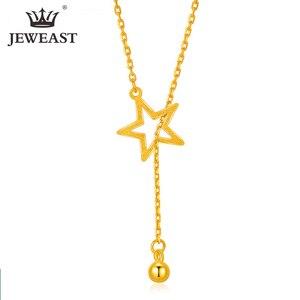 Image 1 - Btss 24K Puur Goud Ketting Real Au 999 Effen Gouden Ketting Mooie Upscale Trendy Classic Party Fine Jewelry Hot verkoop Nieuwe 2020