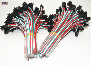Image 2 - 2pin 3pin 4pin 5pin led connector Male/female JST SM 2 3 4 5 Pin Plug Connector Wire cable for led strip light Lamp Driver CCTV