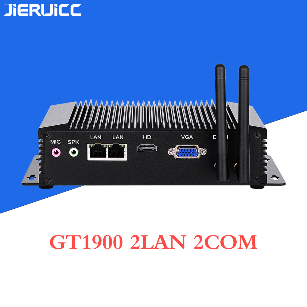 J1900 Fanless Industrial Mini Pc With 2RS232 RS422 RS485 COM 2LAN 1000Mbps X86 Mini PC