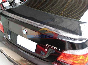 Real Carbon Fiber M5 Style Rear Trunk boot lip Spoiler Fit For BMW E60 5-SERIES 528i 535i 525i 530i 550i 545i 04-10 B028 image