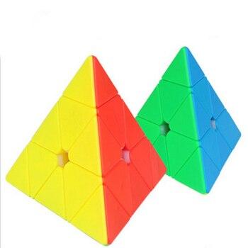 Yuxin Heiqilin Pyramid Magic Cube Speed Cube Bricks Block Brain Teaser Toy for Brain Training Toys for Children cubo magico carbon fiber sticker speed 3x3x3 magic magico rubik s cube fidget cube magico educational brain teaser toys for children adult