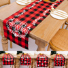 185x32cm Table Runner Christmas Table Desktop Decorative for Dining Table Party Christmas Cake Floral Soft Tablecloth Decoration
