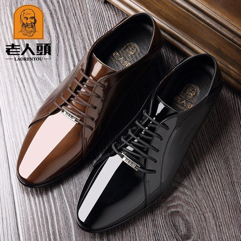 Lotoire cheveux styliste bout pointu peau brillante danse hommes chaussures hommes chaussures à talons hauts angleterre affaires vêtements de cérémonie en cuir chaussures 202 - 3
