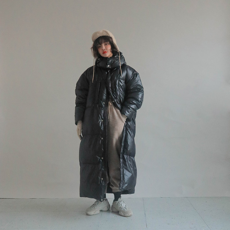 Ultra-Long Down Jacket Women's Ankle-Length 2019 Winter Coat Dongdaemun New Style Korean-style Loose Thick Down Jacket Fashion