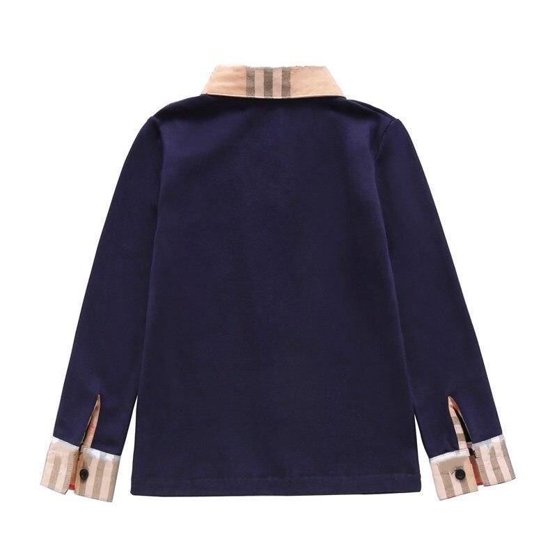New Spring Boys Girls latticen Cotton T Shirts Children Tees Boy Girl Long Sleeve T Shirts Kids Tops Brand Baby Clothes 3-8Y 4