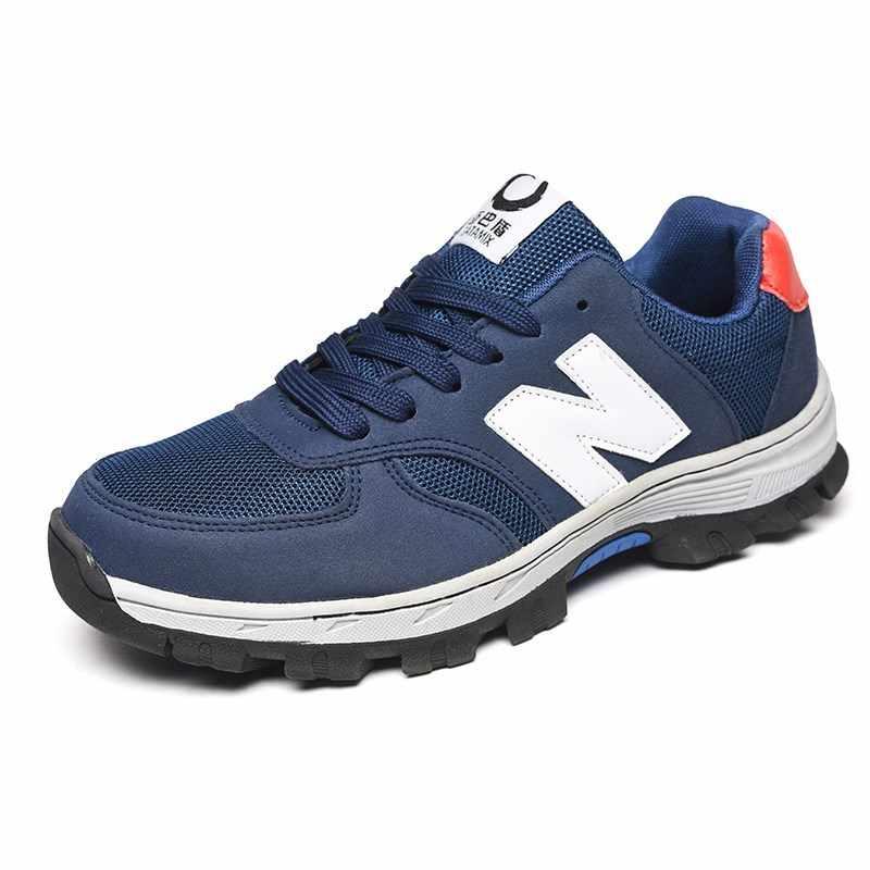 BONJEAN 牛革安全靴鋼つま先メンズ通気性作業靴建設保護靴大サイズ 36-46