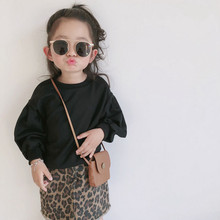 Baby girls clothing sets For kids long sleeve tops +skirts children  Shirt with Leopard Cake Skirt 2 Pieces Sets