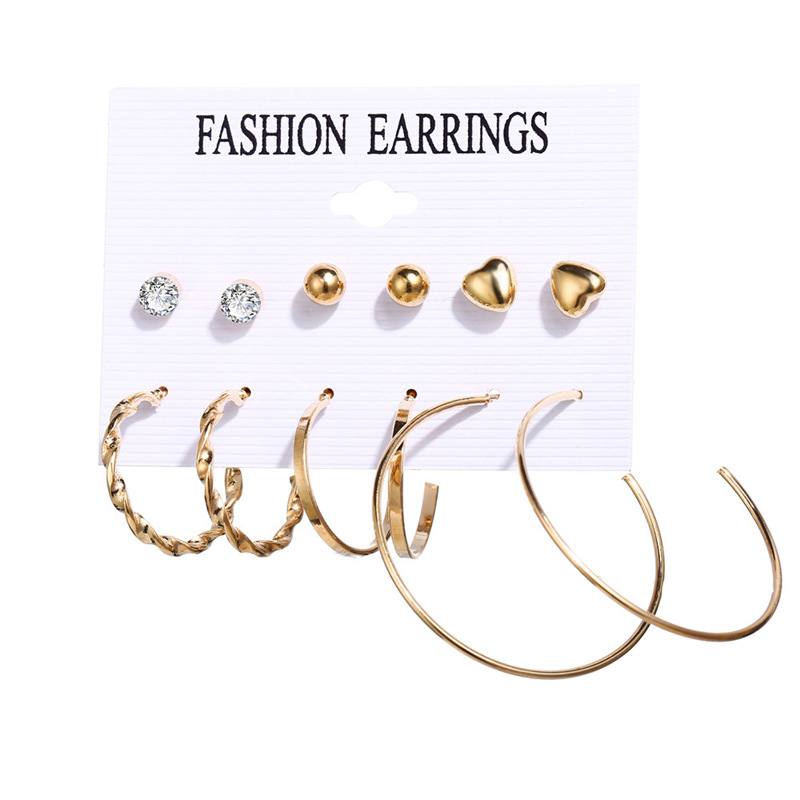 Hacaf49225389465880ec0f1054ef8f1dm - IF ME Fashion Vintage Gold Pearl Round Circle Drop Earrings Set For Women Girl Large Acrylic Tortoise shell Dangle Ear Jewelry