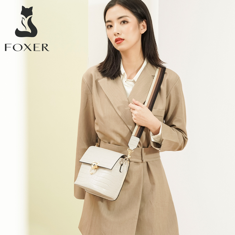 Foxer Kigy Women Leather Crossbody Bag