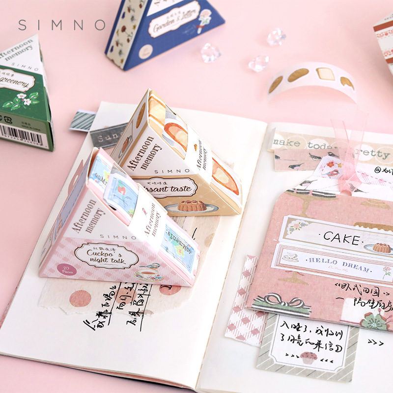 20pcs/pack Basic Frame Alphabet Stickers Cute Paper Tape Diy Decoration Scrapbooking Planner Handmad