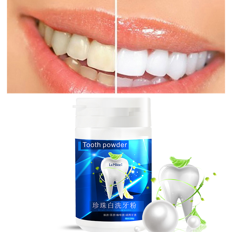 Teeth Whitening Powder Cleansing Quick Stain Removing Oral Care Physical Whitener 50g Toothpaste Oral Hygiene Improve Halitosis