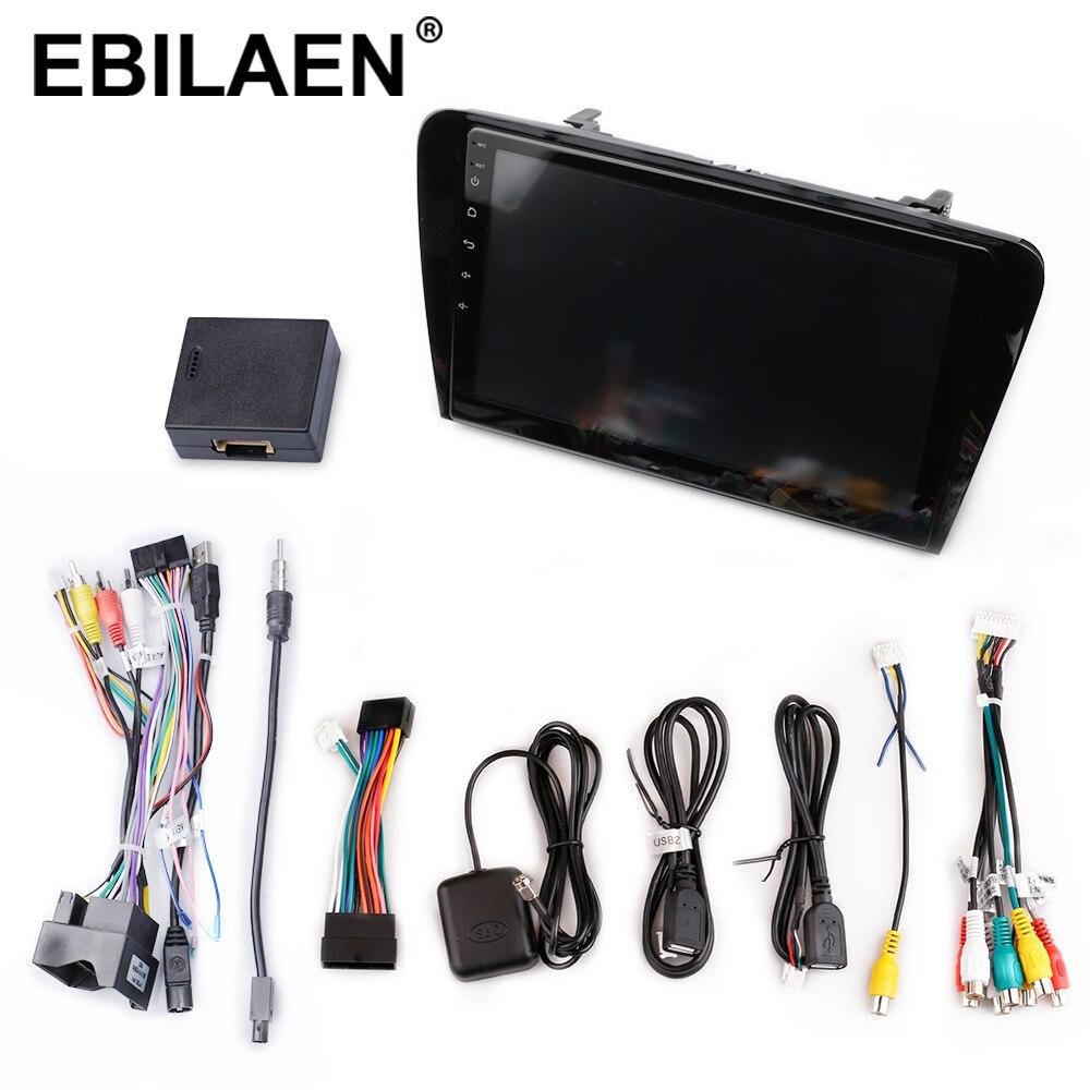 Reprodutor dos multimédios do carro de ebilaen dvd para a câmera traseira de gps da navegação do rádio 2din android 2014 de skoda octavia a7 iii 3 2018 9.0 - 5