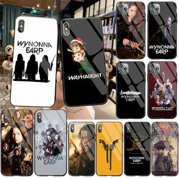 Funda HUAGETOP Wynonna negra para teléfono móvil, funda de cristal templado para iPhone 11 Pro XR XS MAX 8X7 6S 6 Plus SE 2020