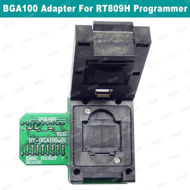 BGA100 מיוחד EMMC מתאם עבור RT809H מתכנת RT BGA100 01 שקע מקורי חדש משלוח חינם