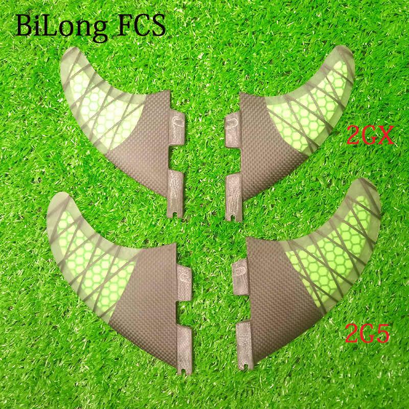 جديد تستقيم عارضة FCS II الزعانف حجم G5 + GX رباعية الزعانف ألياف الكربون لوح التزلج الزعانف 4 قطعة مجموعة ل FCS II صندوق الألياف الزجاجية تصفح الزعانف