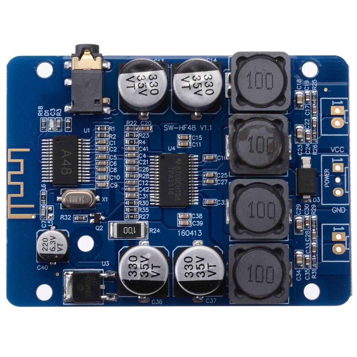 New TPA3118 2x30W DIY Audio Amplifier 8-26V DC Stereo Speaker bluetooth Digital Power AMP Board For 4/6/8 Ohm