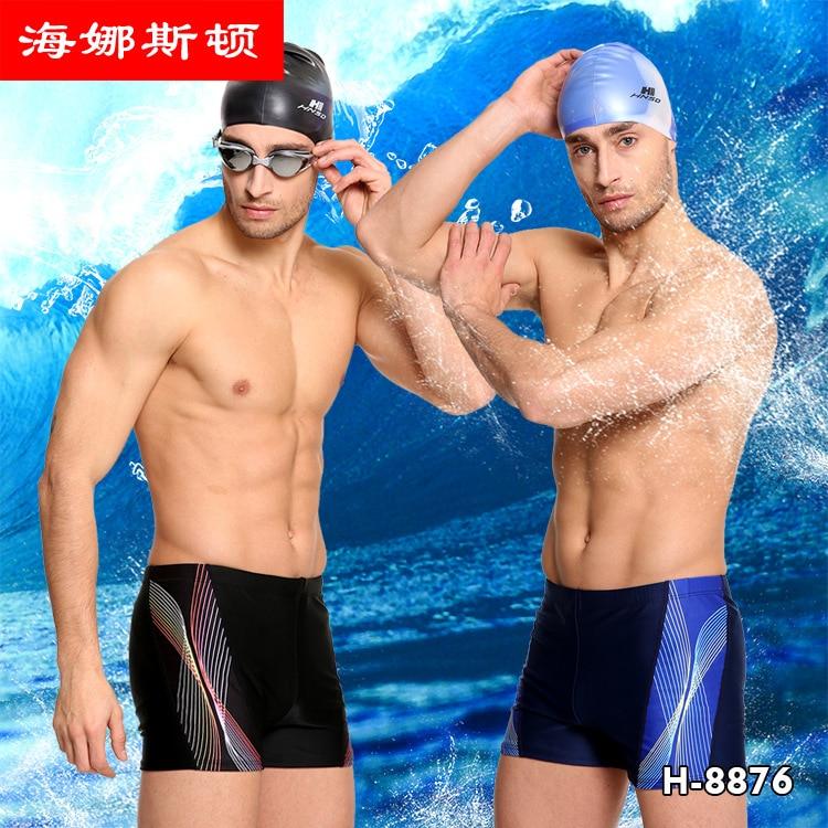 HNSD Digital Pants Men Printed Swimming Pants Boxer Swimming Trunks Two-color Boxers H-8876-