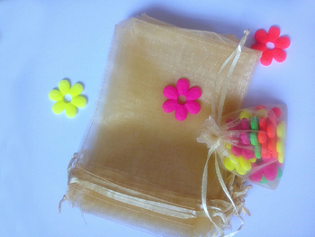 200pcs gold organza gift bags 17x23cm party bags for women event wed Drawstring bag Jewelry Display Bag Pouch diy accessories