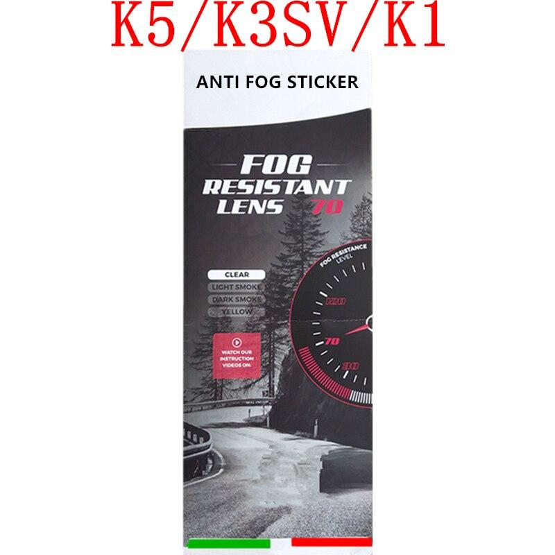 Anti Fog Film for K5 K3SV K1 Helmets Visor Anti Fog Sticker Full Face Motorcycle Helmet Accessories & Parts K5 Motorcycle Helmet