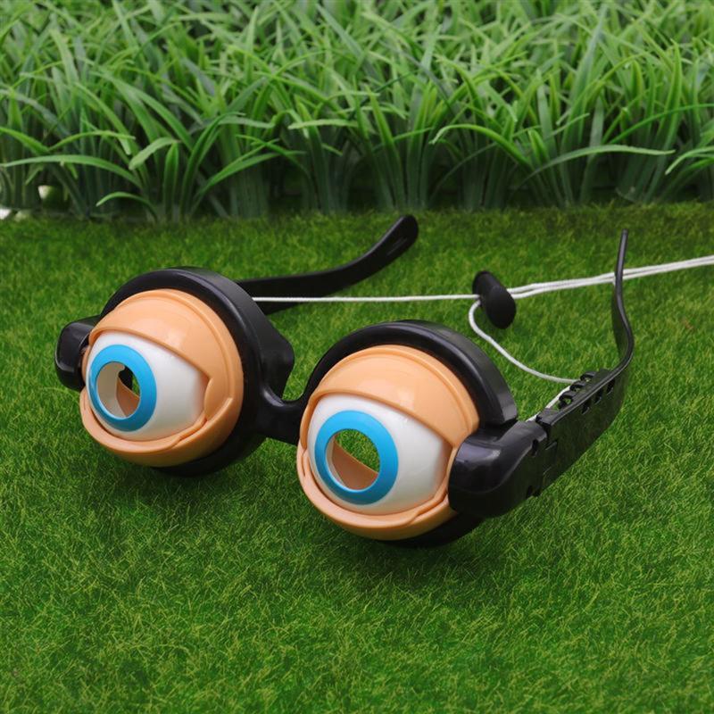 Pop Out Eye Dropping Eyeball Glasses Horror Masquerade Scary Eyes Glasses Party Prank Funny Joke Toy
